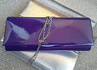 Клатч лаковый фиолетового цвета  (Турция)