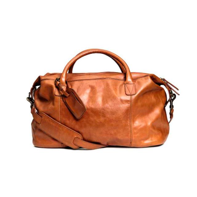 a2f864aadb8b Мужская кожаная дорожная сумка H&M