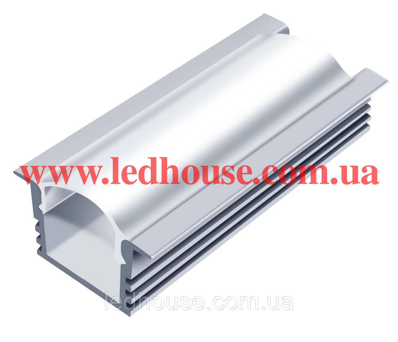 Врезной алюминиевый светодиодный профиль ЛПВ12