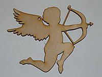 Ангел-купидон из фанеры 10х10 см