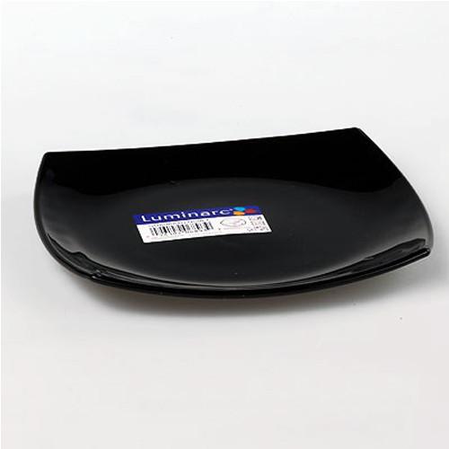 Обеденная тарелка Quadrato Black, 26 см Luminarc J0591