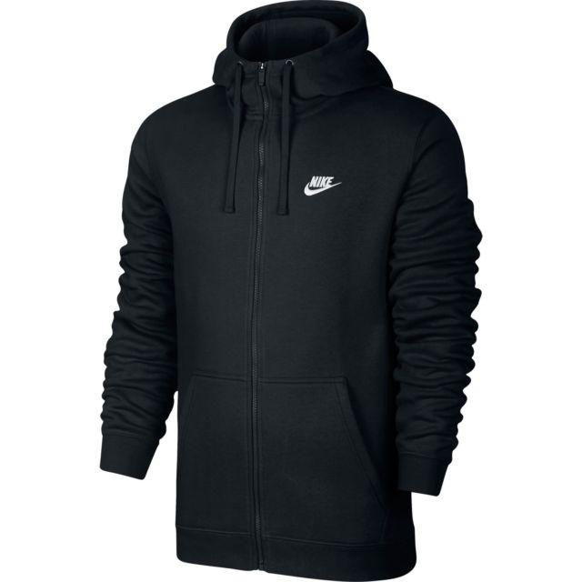 Толстовка Nike M NSW Hoodie FZ FLC club черный оригинал