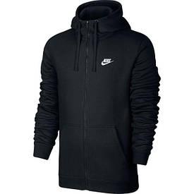 Толстовка Nike M NSW Hoodie FZ FLC club черный