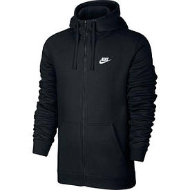 156227cf Толстовка Nike M NSW Hoodie FZ FLC club черный оригинал