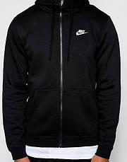 Толстовка Nike M NSW Hoodie FZ FLC club черный оригинал, фото 3
