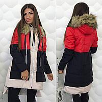 """Куртка Ткань : плащевка """" Аляска"""" термо и водостойкая  синтепон 200 , плотная подкладка мех енот роле№2126"""