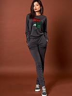 Стильный женский трикотажный костюм  из кофты и штанов.