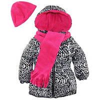 Демисезонная куртка с шарфом и шапкой Pink Platinum (США)для девочки 2Т