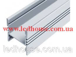 Алюминиевый светодиодный профиль со скрытым креплением ЛПС17