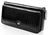 Кожаный кошелек клатч с визитницей.