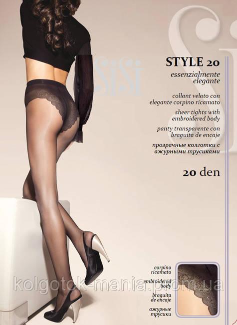Колготки SISI Style 20 с ажурными трусиками