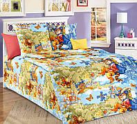 Постельное белье в кроватку бязь Кот в сапогах