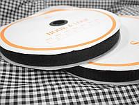 Лента липучка черная, 2,5 см, 25м (папа+ мама)