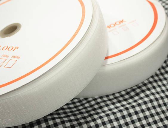 Лента липучка белая, 5 см, 25м (папа+ мама), фото 2