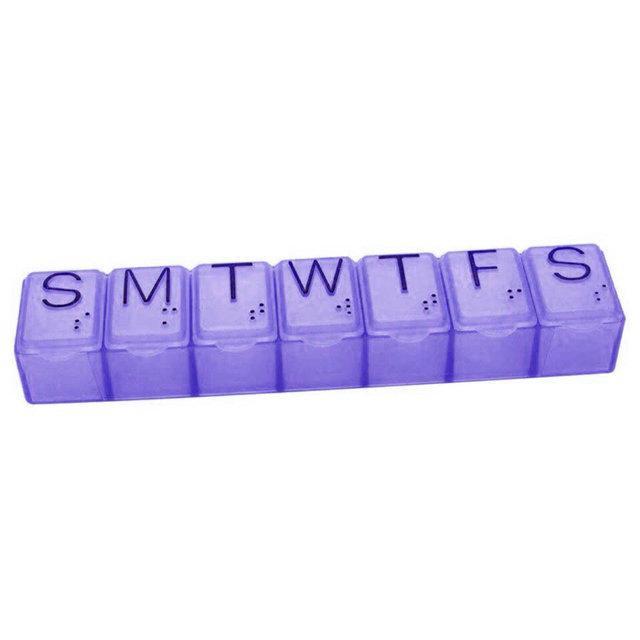 Органайзер для таблеток фіолетовий на 7 днів