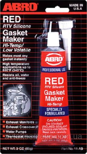 Abro Герметик прокладка красный