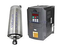 Шпиндель для ЧПУ 2,2KW водное охлаждение + Инвертор (VFD) 2,2KW