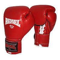 Боксерские перчатки PRO с застёжкой REYVEL кожа 8 oz