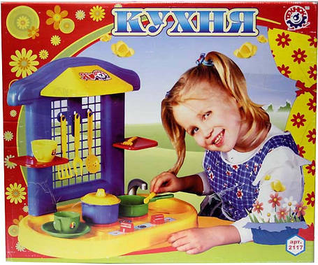 Детская Кухня Технок-2 Украина 2117 для девочек, фото 2