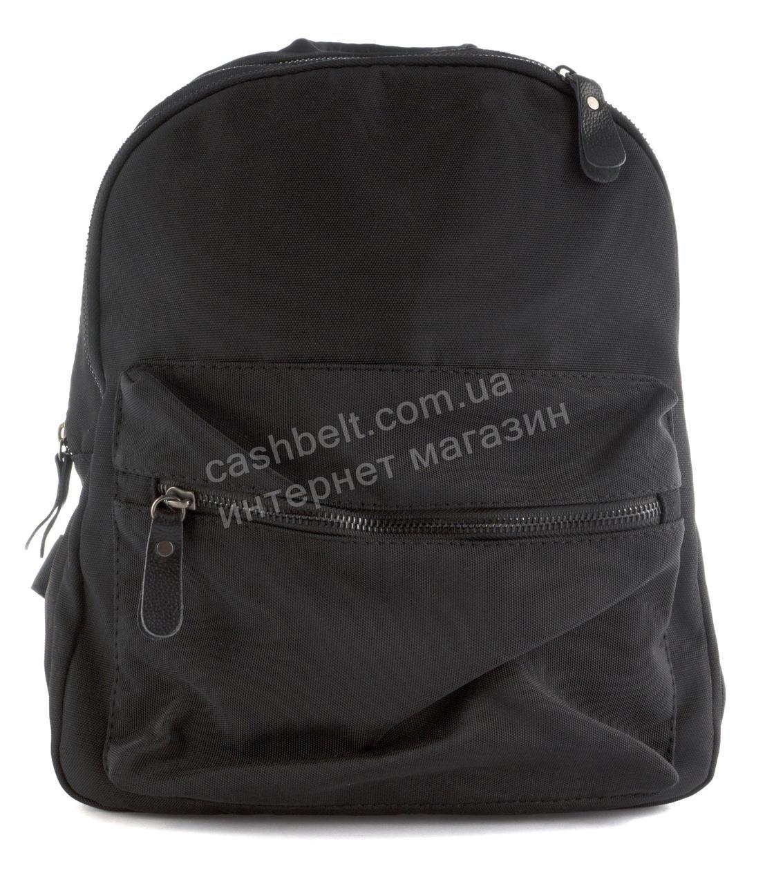 420496e9 Стильный женский качественный городской рюкзак среднего размера art. 91-3  черный