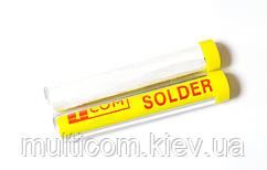 13-09-212. Припой диаметр 1 мм, бессвинцовый 99,3/0,7, 15г в колбе, SOLDER