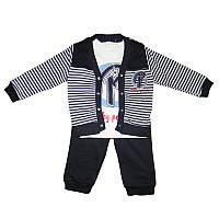 Костюм для мальчика 74-92 3-ка 2кофты+штаны арт.9046