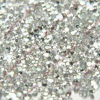 Стразы Swarovski crystal AB (Aurora Borealis), SS 10 (100 шт) для педикюра в баночке