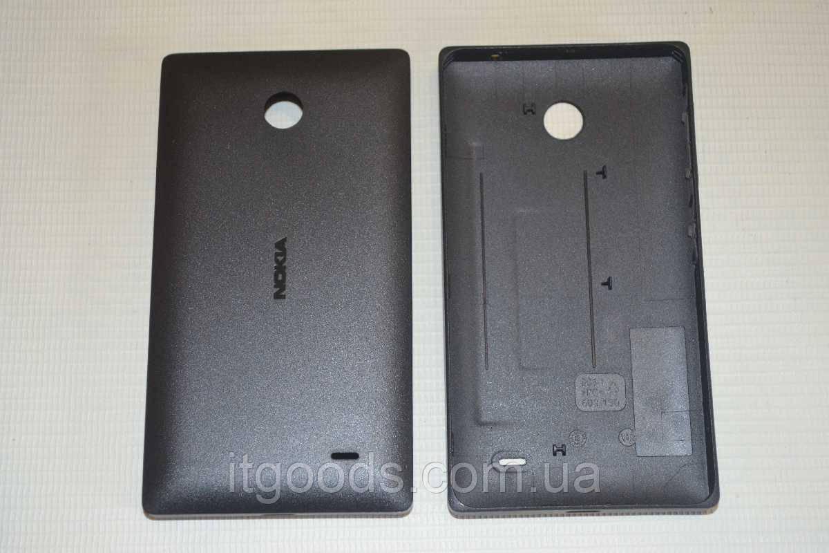 Задняя черная крышка для Nokia X Dual SIM