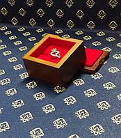 Шкатулка для кольца деревянная