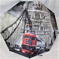 """Женский зонт складной автомат """"Города"""". Зонтик от дождя."""