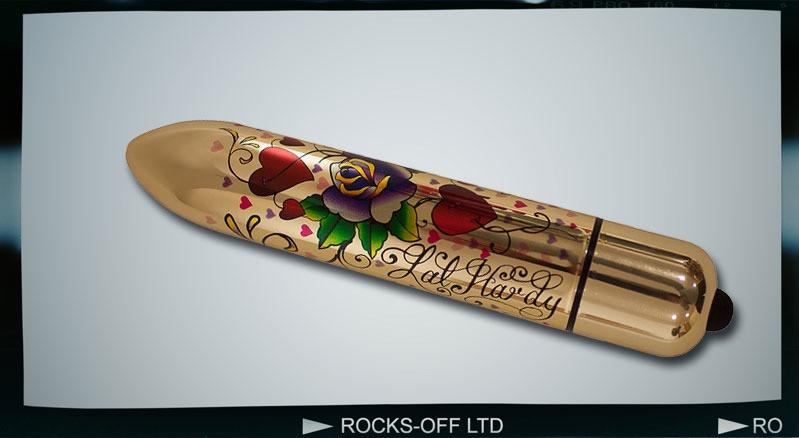 Вибратор RO-160mm TATTOO Hearts and Roses
