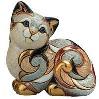 Фигурка De Rosa Rinconada Families Кошка Пятнистая Отдыхающая Dr106f-81 белый