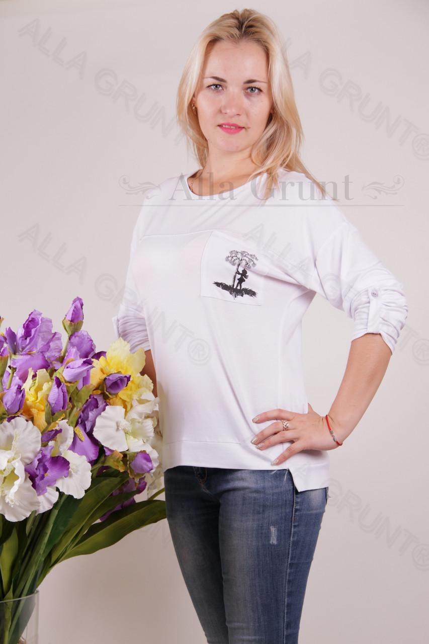 Блуза-туника трикотажная 406-осн822-144 полубатал оптом от производителя Украина