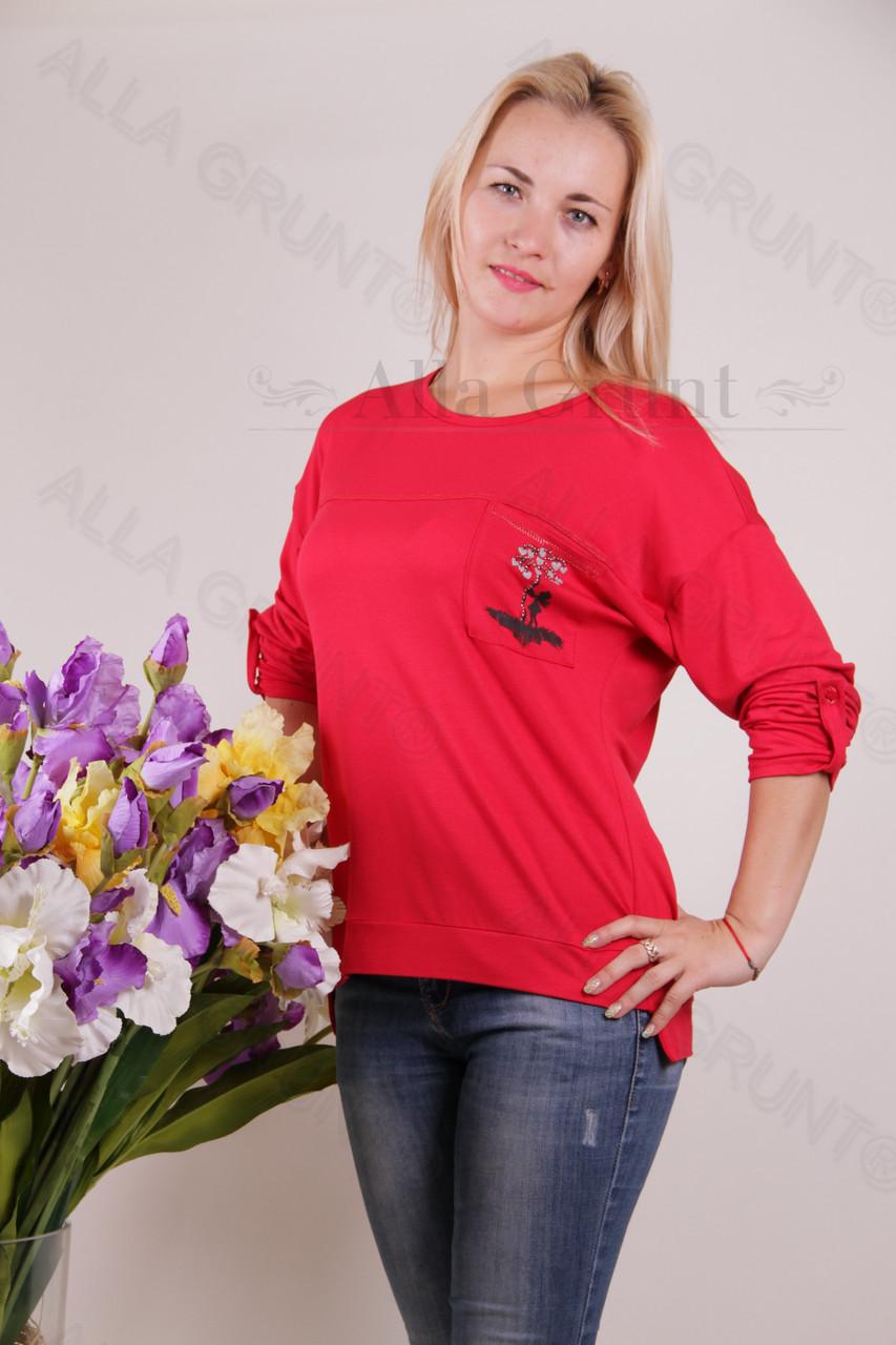 Блуза-туника трикотажная 424-осн822-144 полубатал оптом от производителя Украина