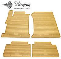 Резиновые коврики Stingray Стингрей Хонда Аккорд 2013- Комплект из 4-х ковриков Бежевый в салон. Доставка по всей Украине. Оплата при получении