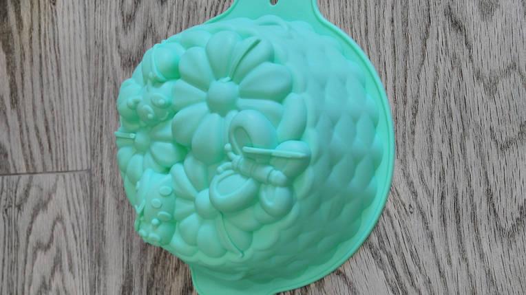 """Силиконовая форма для выпечки """"Корзина цветы""""(1 шт) , фото 2"""