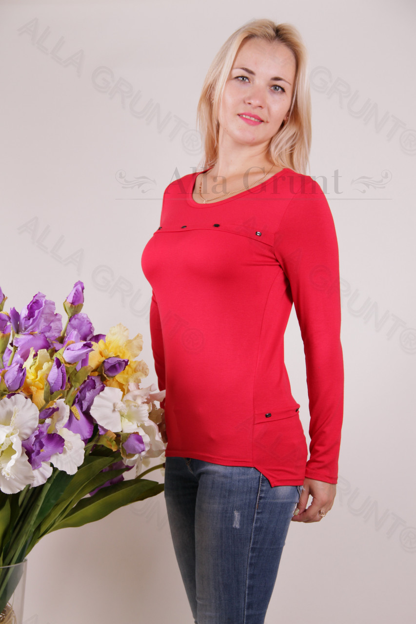Блуза-туника трикотажная 424-осн705 норма оптом от производителя Украина
