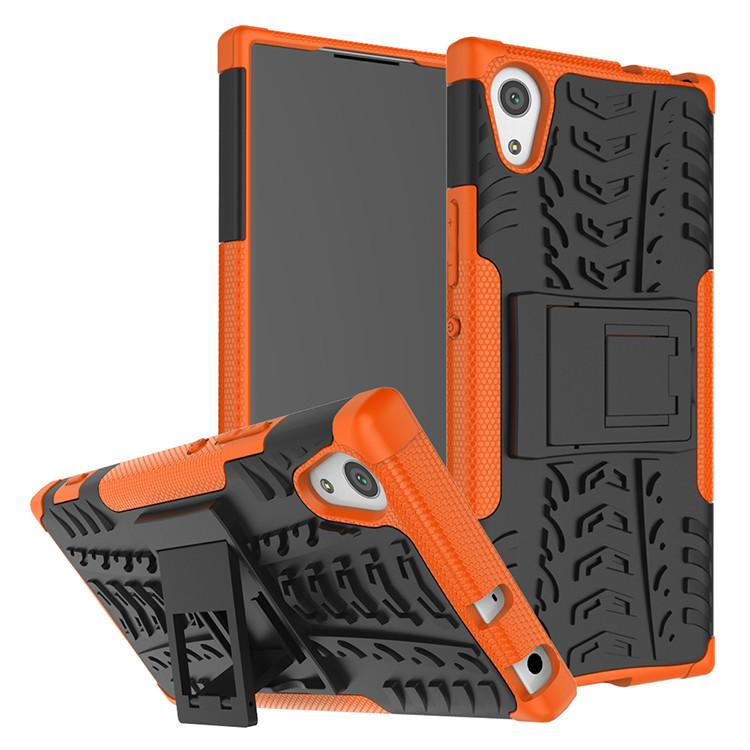 Чехол Sony XA1 / G3112 противоударный бампер оранжевый