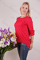 Блуза-туника трикотажная 424-осн826 полубатал оптом от производителя Украина