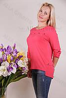 Блуза-туника трикотажная 420-осн826 полубатал оптом от производителя Украина