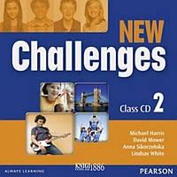 Аудио-диск «New Challenges», уровень 2, Michael Harris, Amanda Harris, David Mover, Anna Sikorzynska | Pearson-Longman