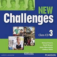 Аудио-диск «New Challenges», уровень 3, Michael Harris, Amanda Harris, David Mover, Anna Sikorzynska | Pearson-Longman