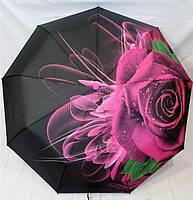 """Женский зонт складной автомат """"Роза"""". Зонтик от дождя."""