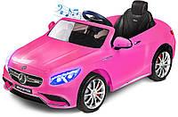 Электромобиль детский Mercedes-Benz S63 розовый
