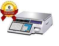Весы с печатью этикетки CAS CL5000J-IB бу