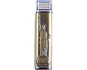 Зажигалка женская газовая Статуя свободы (Турбо пламя)  (4 вида)