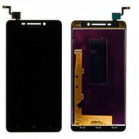 Дисплей (экран) для Lenovo A5000 леново + тачскрин, цвет черный.