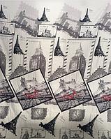 Комплект постельного белья из бязи Gold, Париж двуспальное