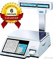 Весы с печатью этикетки CAS CL5000J-IP-R бу