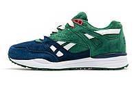Кроссовки синие с зеленым Reebok Classic, унисекс, р. 36 37 38 39 , фото 1